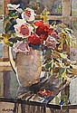 Janetta Susan Gillespie, RSW (British, 1876-1956) Pink and red roses, Janetta Gillespie, Click for value