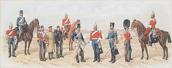 Richard Simkin (British, 1840-1926) The Crimea, 1854