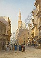 John Varley Jnr. (British, 1850-1933) Street scenes in Cairo, a pair 36.5 x 26.5 cm (14½ x 10½ in) each, John (1850) Varley, Click for value