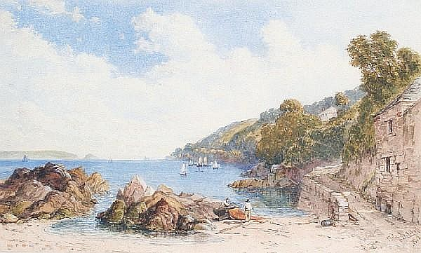 Philip Mitchell (British, 1814-1896) The beach at Cawsand