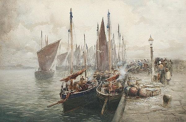 John Ernest Aitken (British, 1881-1957) 'Harvest of the Sea'