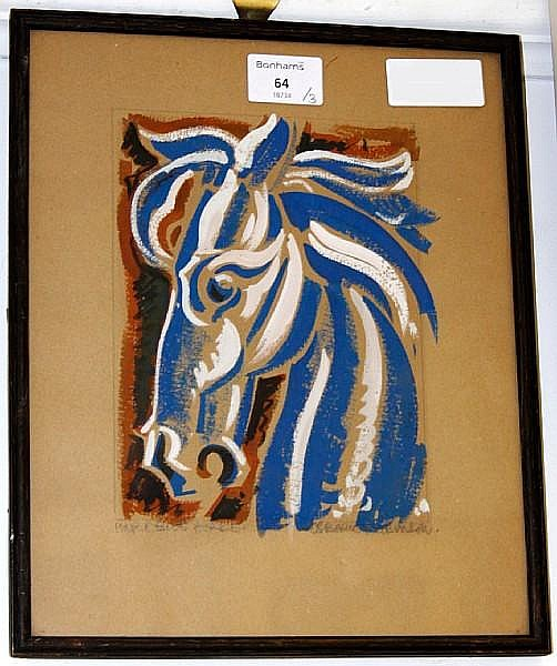 Osborne Robinson, 20th Century Pink and Blue Horse