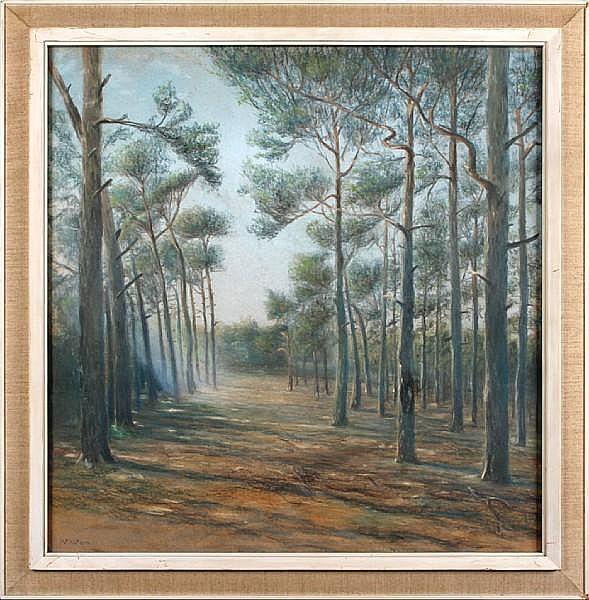 Emanuel Ernst Gerardus van der Ven (Dutch, 1866-1944) Woodland clearing,
