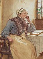 Walter Langley, RI (British, 1852-1922) A quiet time