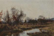 Hugh Bolton Jones (1848-1927) Landscape Oil on canvas 16 x 24in.