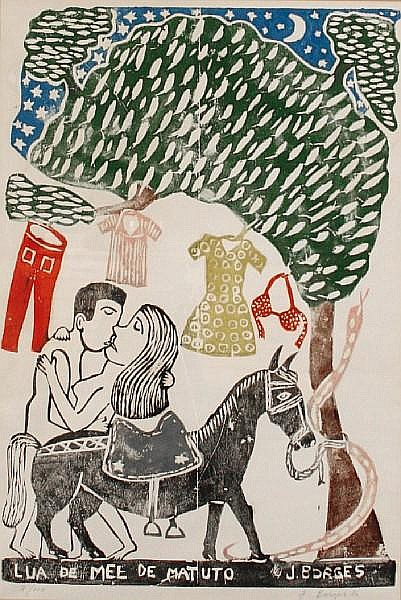 Jacobo Borges (Mexican, born 1931) Lua de mel de matuto