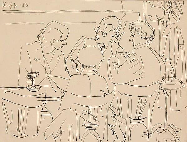 Edmond Xavier Kapp (British, 1890-1978) In the cafe