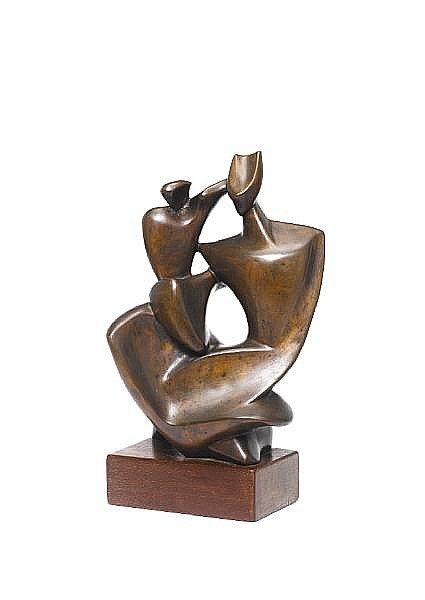 Zoltán Borbereki Kovács (Hungarian, 1907-1992) Mother and child 30 in. (11 13/16 in.)
