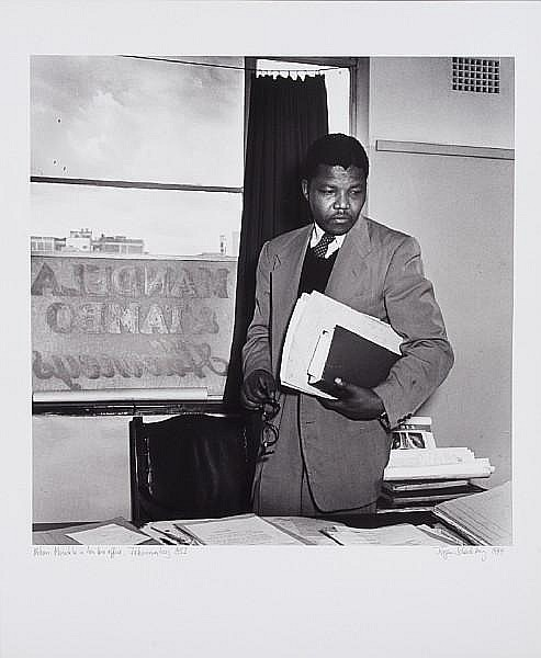 Jürgen Schadeberg (South African, born 1931) Nelson Mandela in his Law Office, Johannesburg, 1952