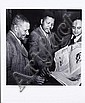 Jürgen Schadeberg (South African, born 1931) Dr James Moroka, Nelson Mandela and Yusuf Dadoo outside the courtroom during the Defiance Campaign, Jürgen Schadeberg, Click for value