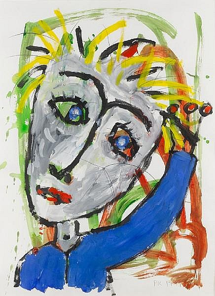 Paul Kostabi (American, born 1962) 'Verso', 1999