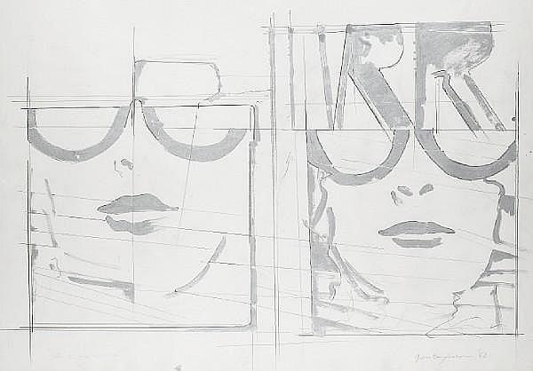 Giosetta Fioroni (Italian, born 1932) 'Villa R', 1968