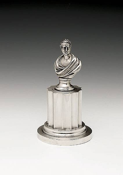 A Victorian silver inkstand, by Charles & George Fox, London 1846,