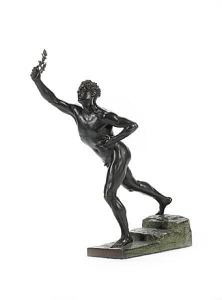 Max Kruse, German (1854-1942) A bronze figure 'Nenikhkamen' (we are victorious) cast by Gladenback & Sohn