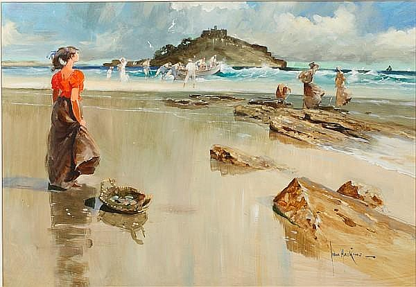 John Haskins (British, born 1938) Cornish Catch