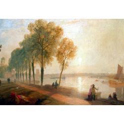 Richard Hume Lancaster (British, ?- 1850) The Thames at Mortlake oil on canvas 44 x 59cm