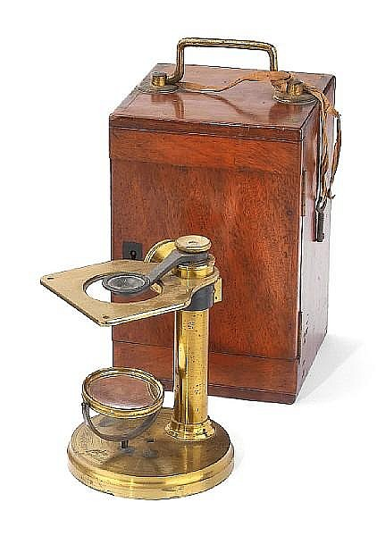 A Charles Baker dissecting microscope, English, circa 1880,