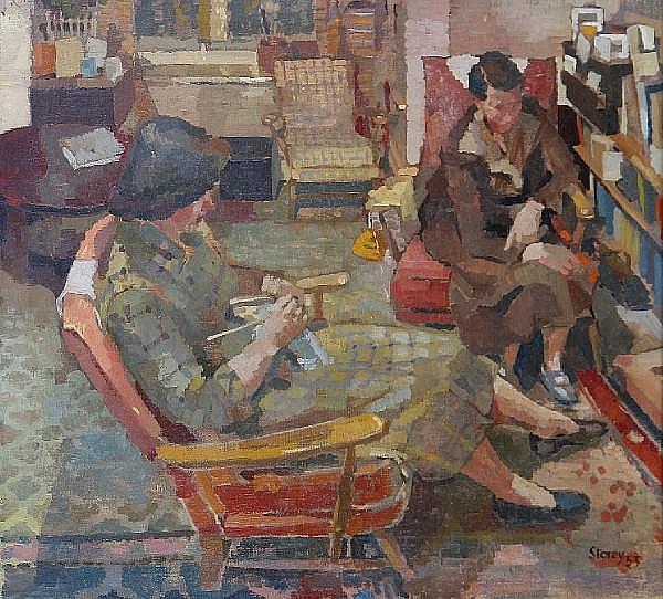 Harold Storey (British, 1888-1965) 'Two friends'
