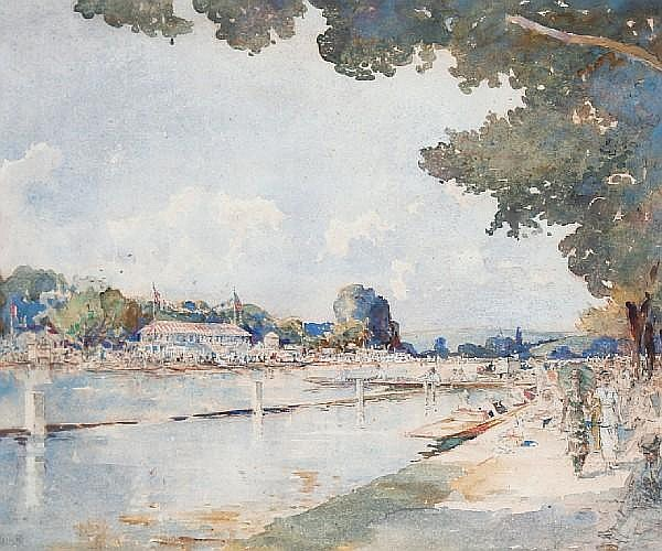 William Monk (British, 1863-1937) Henley Regatta