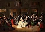 GIUSEPPE DE GOBBIS (ACTIVE VENICE 1772-1783) Il Parlatorio delle Monache oil on canva