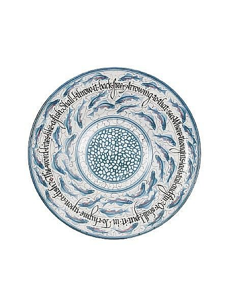 Laurence McGowan A painted stoneware flared Dish, 2009