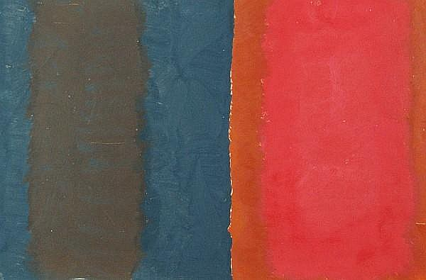 Michael Kidner RA (British, 1917-2009) Abstract, purple and red
