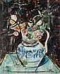 David Peretz (French, born 1906) Still life of flowers in a blue and white jug, David Peretz, Click for value