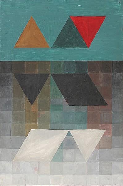 Alfred Dunn (British, born 1937) 'Bird Shadow Ghost' 76 x 50.5cm.