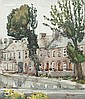 John Frederick Hunter (Irish, 1893-1951) Terrace of houses, John Frederick Hunter, Click for value