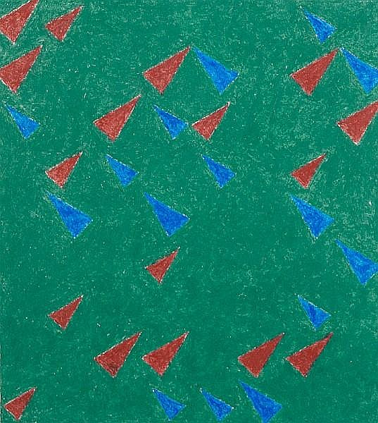 Michael Kidner RA (British, 1917-2009) Untitled with triangles