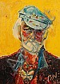 Sven Berlin (British, 1911-1999) 'Self portrait in my painting hat', Sven Berlin, Click for value