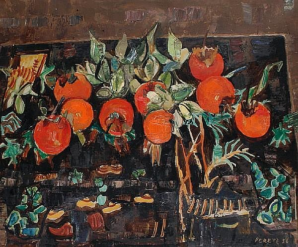 David Peretz (French, born 1906) Growing tomatoes