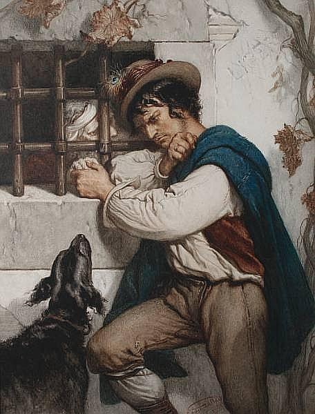 Louis Gallait (Belgian, 1810-1887) 'Complot d'Évasion'