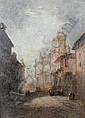 Henry Foley (British, 19th Century) Continental town scenes, a pair one 34.4 x 25cm (13 9/16 x 9 13/16in), the other 35 x 24.8cm (13 3/4 x 9 3/4in), (2)., Henry Foley, Click for value