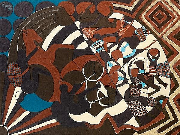 Uzo Egonu (Nigerian, 1931-1996) Exodus