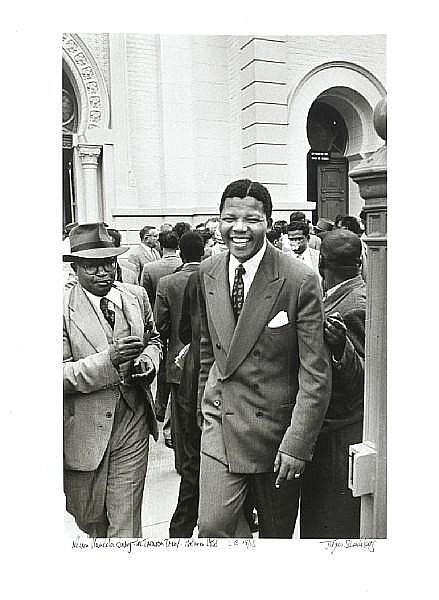 Jürgen Schadeberg (South African, born 1931) Nelson Mandela during the Treason Trial, Pretoria, 1958 unframed