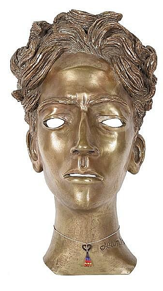 Jean Marais (French, 1913-1998) Portrait bust of Jean Cocteau 38cm (15in)(height)