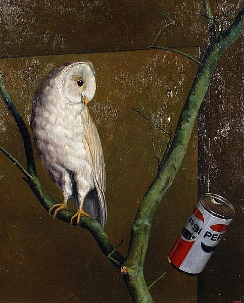David Denby (British, born 1946) Owl and Pepsi
