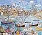 Linda Weir (British, born 1951) 'Happy Clouds Summer, 2010, St Ives Harbour', Linda Weir, Click for value