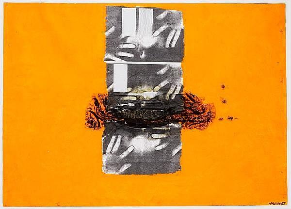 Aidan Salakhova (Russian, born 1964) Three works; Untitled largest: 101 x 72.5cm (39 3/4 x 28 9/16in).