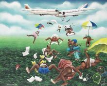 Camille-Pierre Pambu Bodo (Democratic Republic of Congo, 1953-2015) L'imprudence, collision d'avions