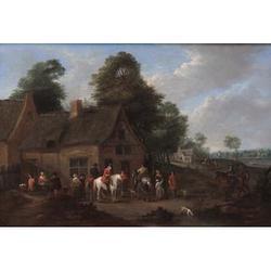 Karel Breydel, called le Chevalier (1678-Antwerp-1733) 9 1/2 x 13 3/4 in. (24.2 x 35.1 cm.) (2)