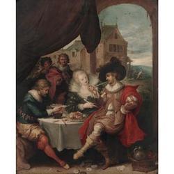 Frans Francken III (1607-Antwerp-1667) 17 x 14 in. (43.2 x 35.5 cm.)