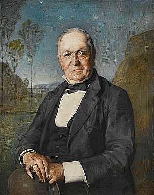 Jean-François Gigoux (French, 1806-1894) Portrait of Auguste Caubert de Cleiy