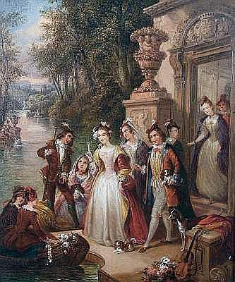 Siegfried Detlev Bendixen (German, 1786-1864) 'The Embarkation'