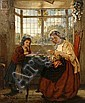 John William Haynes (active 1852-1882) 'A stitch in time', John William Haynes, Click for value
