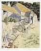 Simon Palmer (British, born 1956) 'Emerging from barn'