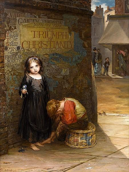 Augustus Edwin Mulready (British, active 1863-1905) Uncared for