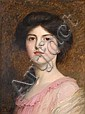 Sir Frank (Francis Bernard) Dicksee, PRA RI (British, 1853-1928) Portrait of Camille Sutton Palmer