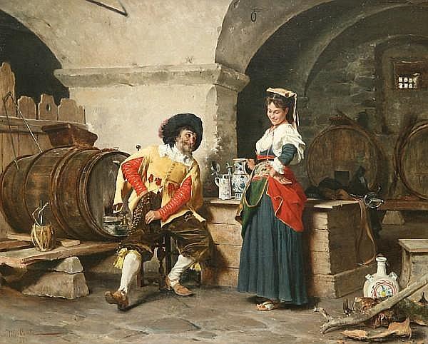 Tito Conti (Italian, 1842-1924) The serving maid